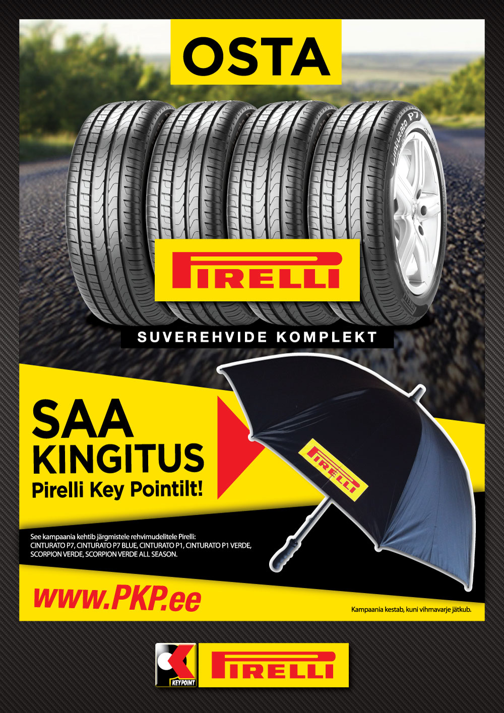 Osta Pirelli, saa kingitus Pirelli Key Pointilt!